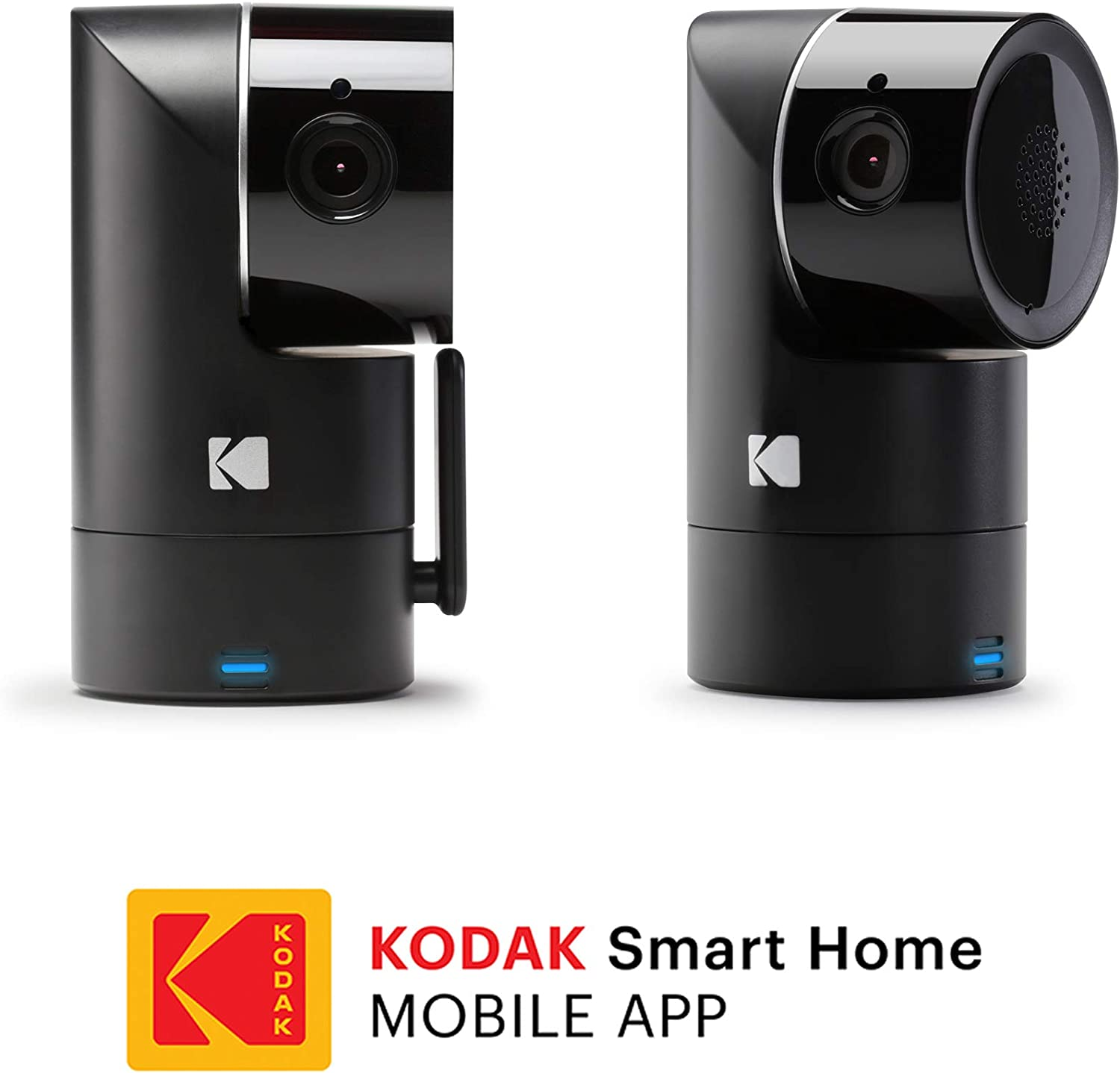 KODAK Cherish F685 Home Security Camera 2-Pack with Mobile App – Full-HD Wireless Security Camera System with Infrared Night-Vision, Battery, Tilt, Pan, Zoom – Surveillance Camera, WiFi Camera