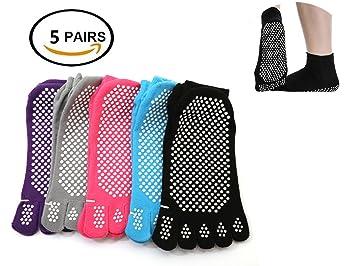 G 5 Pares Calcetines Antideslizantes para Yoga Pilates Ejercicios Deportivo: Amazon.es: Deportes y aire libre