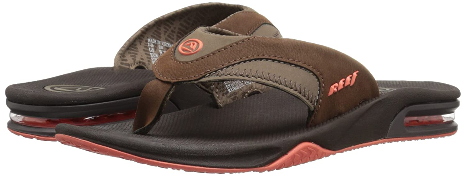 Super beauty products Men Reef Fanning Sandal BrownLeather - H8Y75D1969
