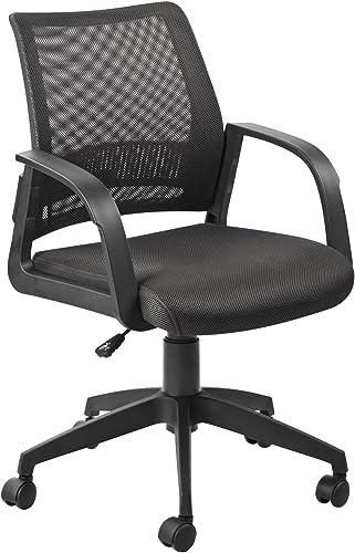 Leick Black Mesh Back Office Chair