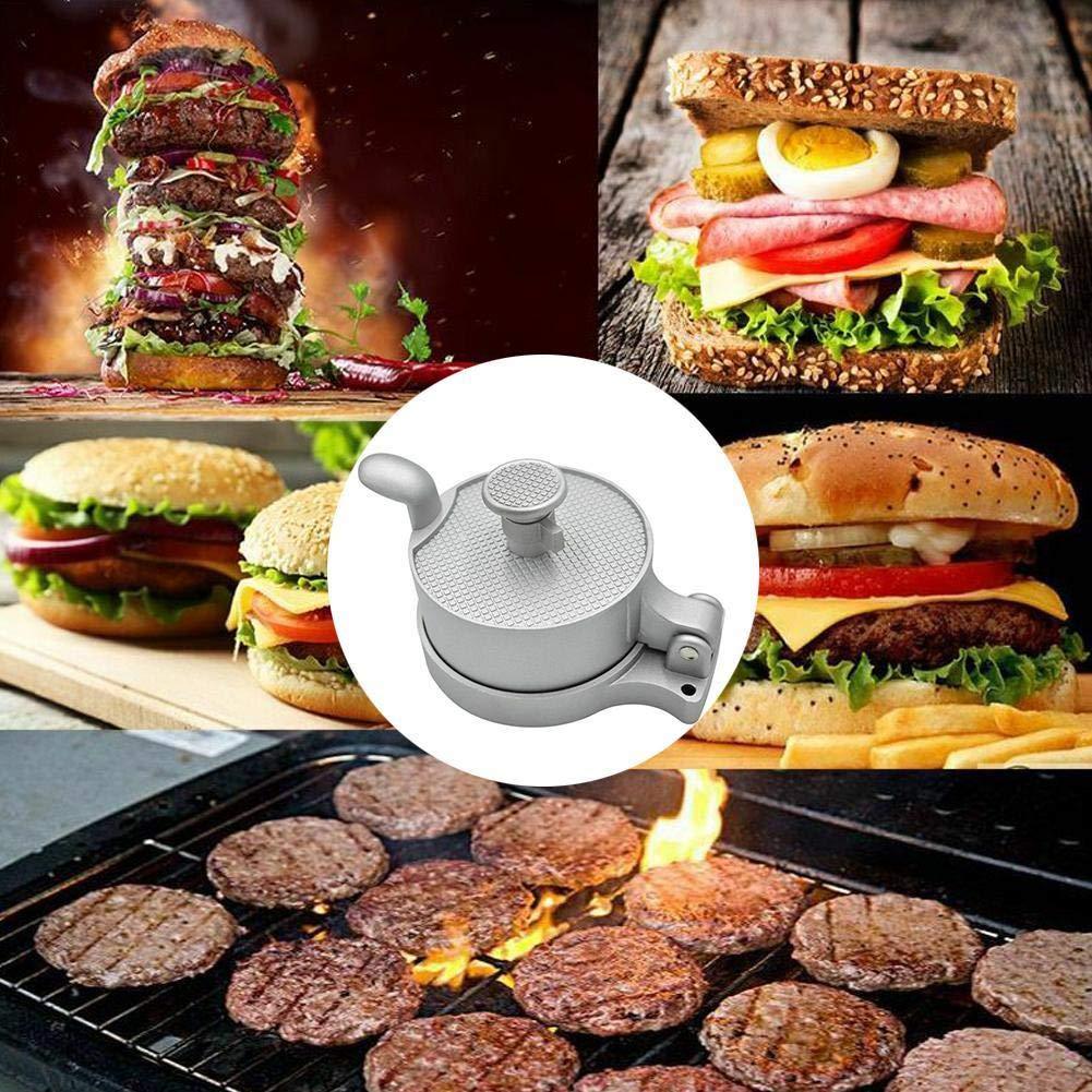 antiaderente Pressa per carne per hamburger in acciaio pressofuso e alluminio pressofuso per fare facilmente hamburger patties carne torta stampo cucina barbecue strumento di cottura