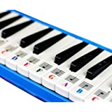 Piano Stickers for 32/37 Key Melodica, Transparent and Removable, Leaves No Residue, Perfect Visual Tool for Kids and Beginne