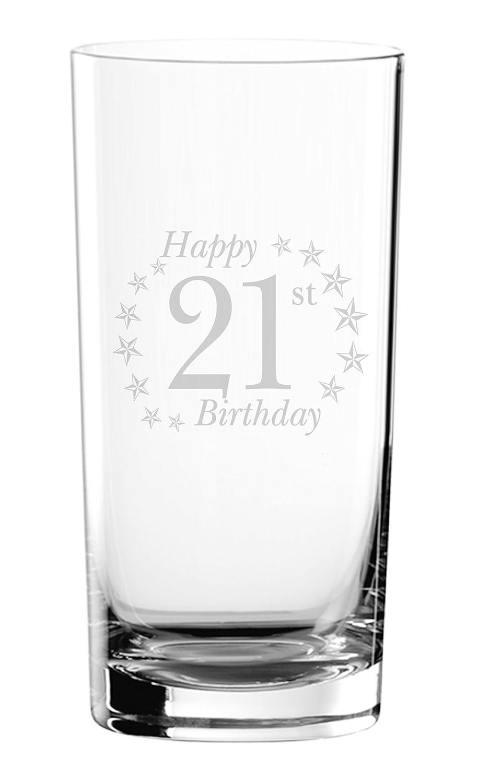 Chris Bag Of Goodies Happy 21st 21 Birthday Engraved Hi Ball Hiball Glass Gifts Present For Men Women Her Him Girls Boys Girl