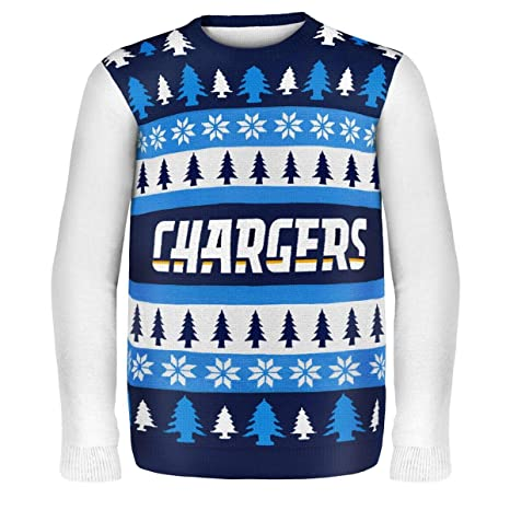 meet 6115b 414c3 KLEW NFL San Diego Chargers Busy Block Ugly Sweater, X-Large, Blue