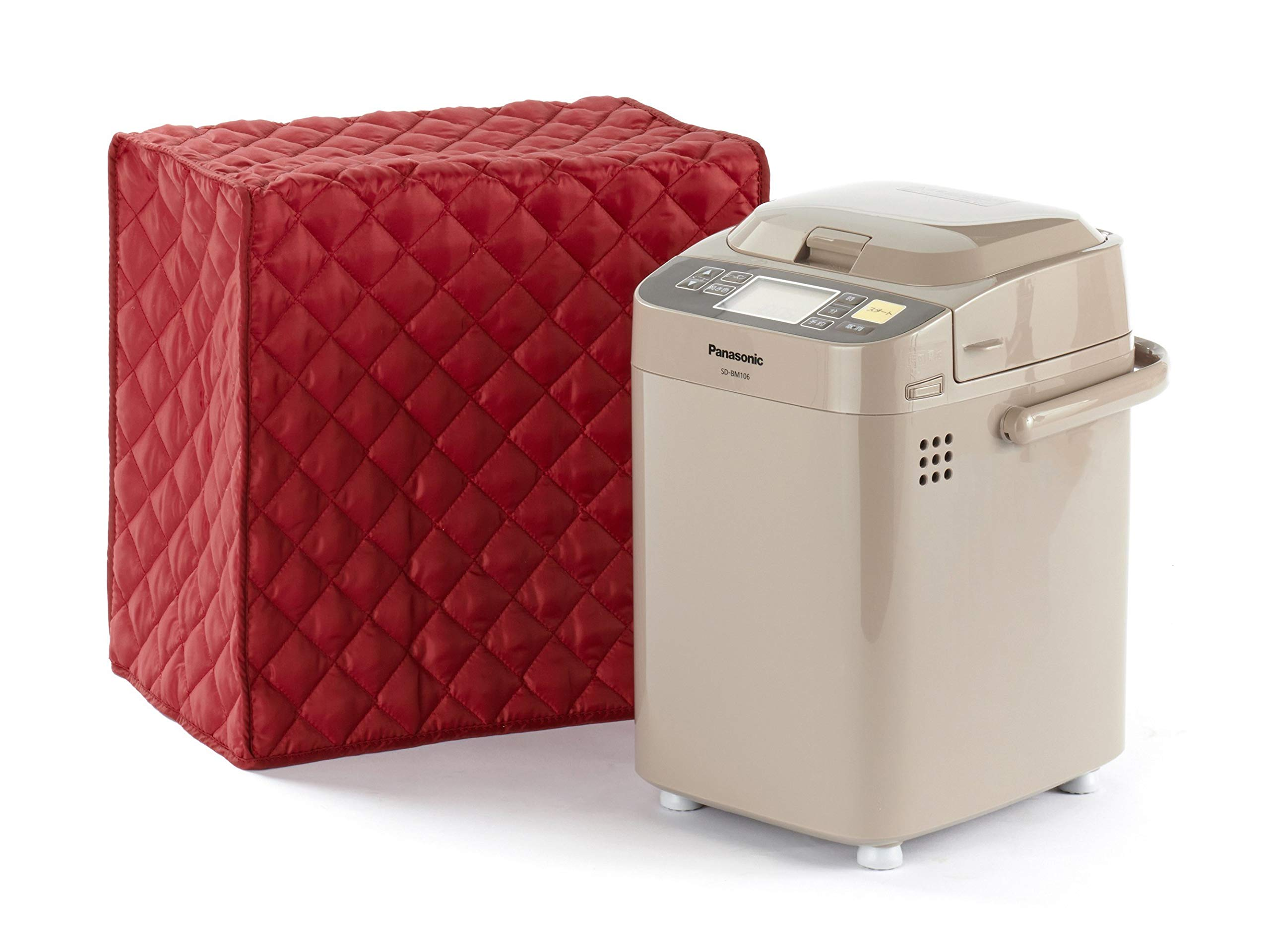 CoverMates – Bread Maker Cover – 17W x 11D x 15H – Diamond Collection – 2 YR Warranty – Year Around Protection - Red