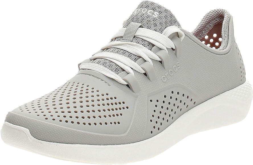 Crocs LiteRidePacerW, Zapatillas para Mujer, Blanco (Pearl White 101.), 34/35 EU: Amazon.es: Zapatos y complementos