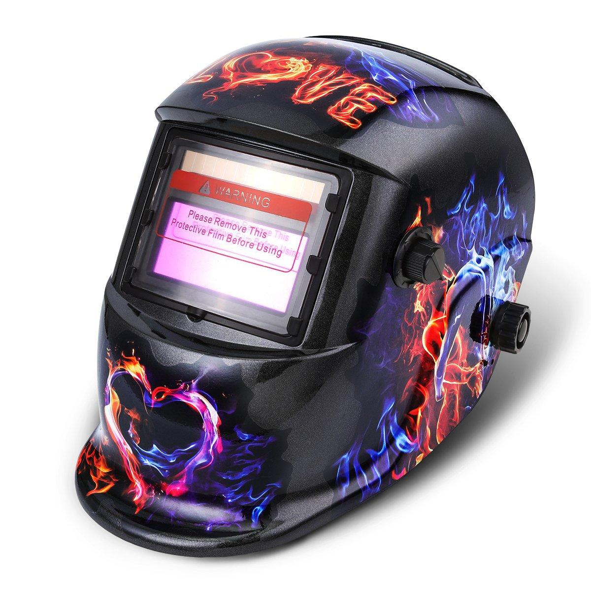 Careta de Soldar, NASUM Casco de Soldadura Solar-Alimentado de Oscurecimiento Automático Máscara de