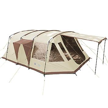 skandika Nordland 6 Familia túnel Tienda de campaña Camping, Unisex, Nordland 6, Beige/Brown: Amazon.es: Deportes y aire libre