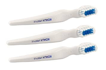 Koala Lifestyle Denture Cleaner Brushes with Covers | Cleaning Toothbrush  for Dentures, False