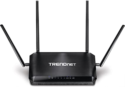 TRENDnet AC2600 StreamBoost MU-MIMO WiFi Router Quadstream for Multiple  Devices, Detachable Antennas, Gigabit, USB Share ports