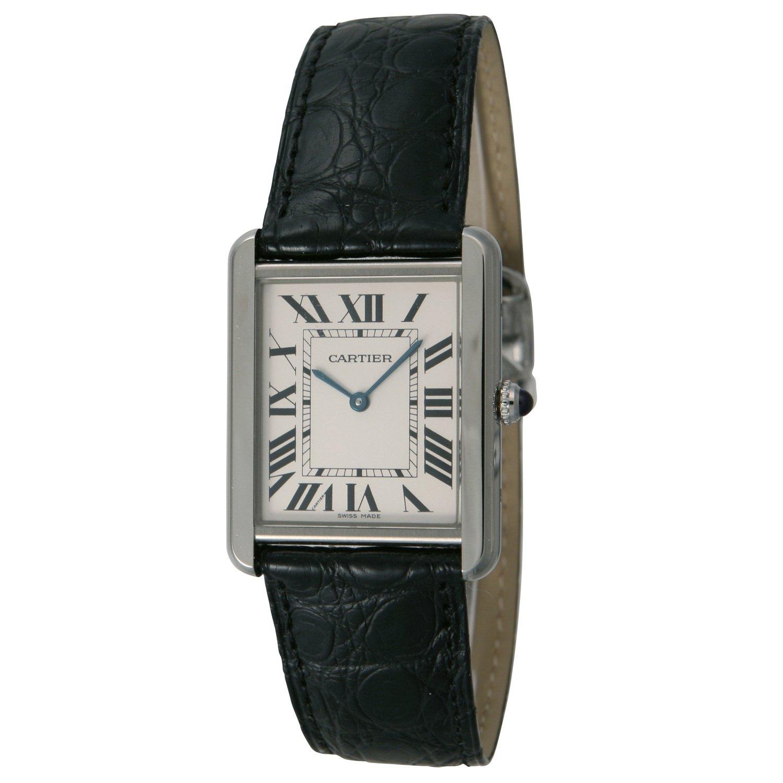 [カルティエ]CARTIER 腕時計 タンクソロ シルバー 黒革 W5200003 メンズ 【並行輸入品】 B00385XAHY