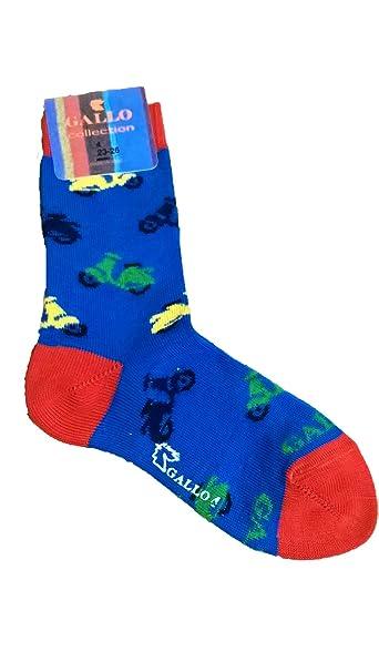 Calcetines Socks corta algodón ligero Niño/a Gallo l0973 C Vespa: Amazon.es: Ropa y accesorios