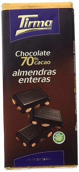 Chocolate Tirma Tableta 115G 70% Cacao Con Almendras Enteras