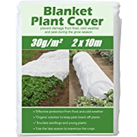 KAHEIGN 2 x 10M Plant Frost Protection Fleece, 30gsm Tuin Fleece Plant Antivries Doek Winter Plant Bescherming Stof…
