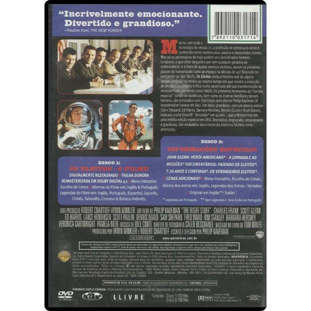Amazon.com: DVD Os Eleitos [ The Right Stuff ] [ Brazilian Edition ...