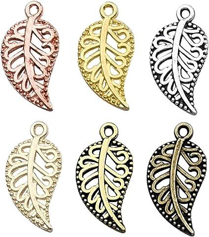 bronze leaf charms 10 x Filigree Leaf Charms Antique bronze Leaf charms bronze leaves Leaf pendants Bronze Filigree Leaf Charms