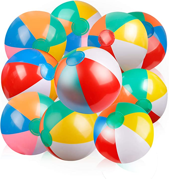 Party Now 20 Graduation Inflatable Beach Balls 2 Pack Grey