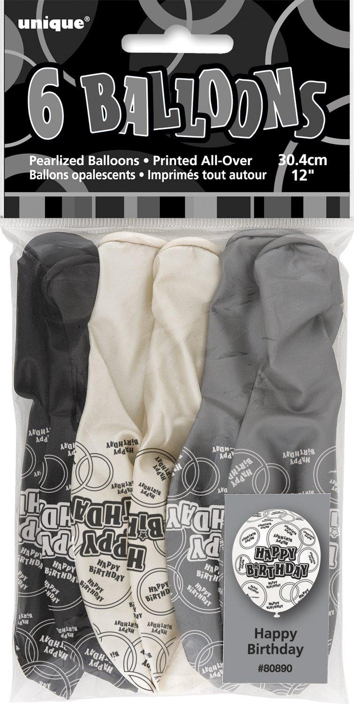 Unique Party Banderines de 16 cumplea/ños 90800 Edad Color Negro