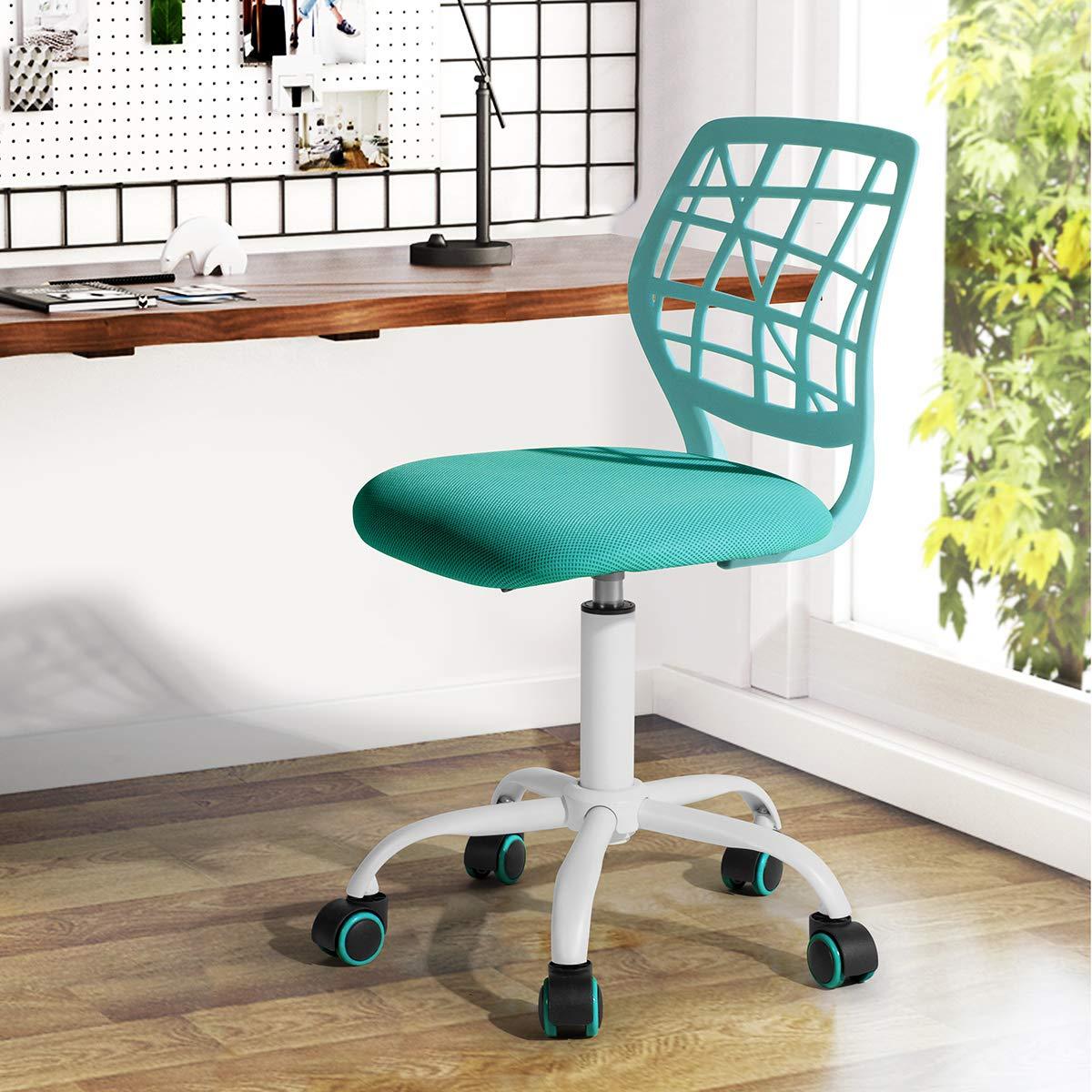 Fanilife Office Chair Adjustable Design Kids Computer Seat Desk Task Chair Swivel Armless Children Study Chair Turquoise Buy Online In Azerbaijan At Azerbaijan Desertcart Com Productid 53178932