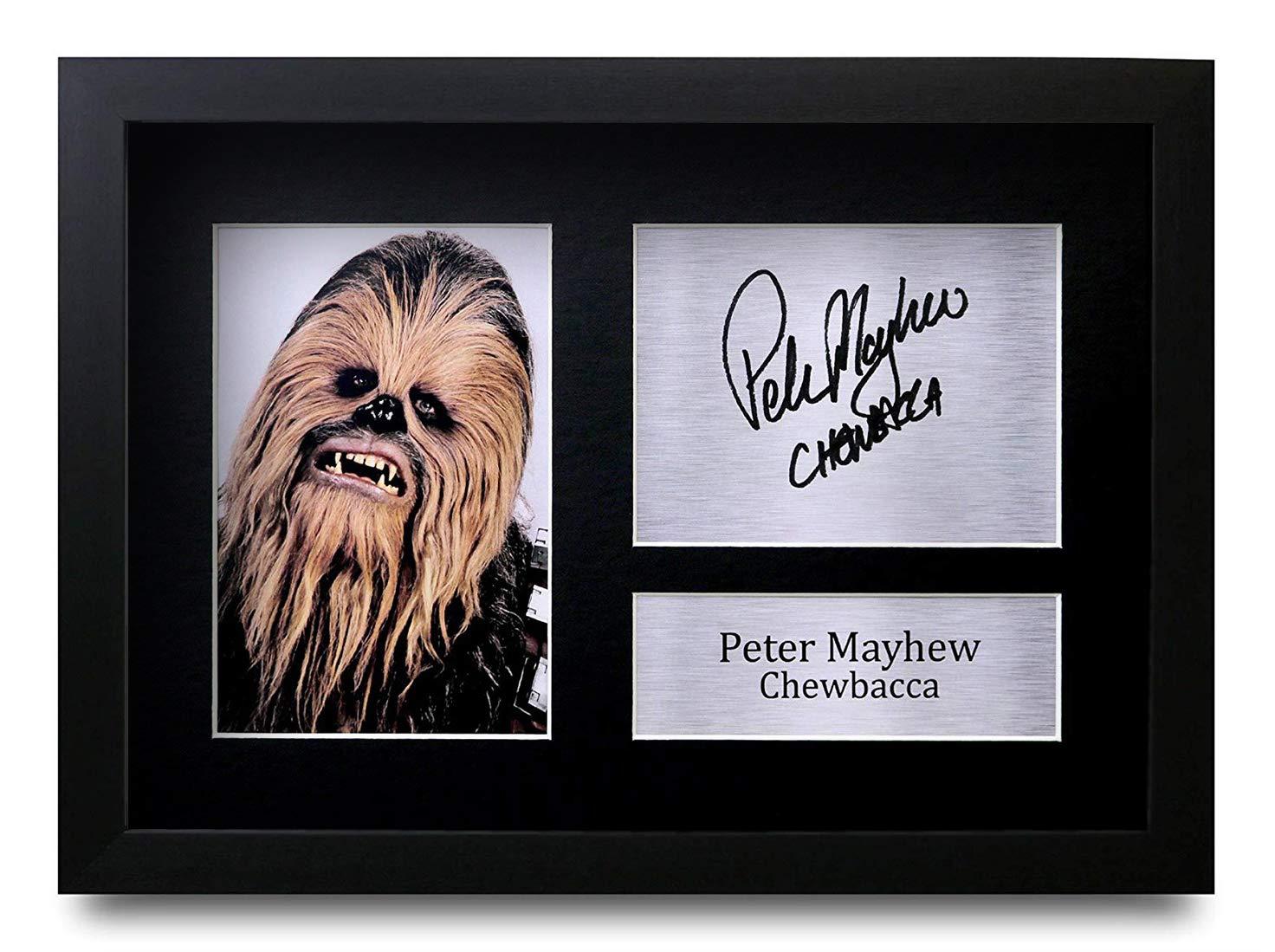 HWC Trading Peter Mayhew A4 Incorniciato Firmato Regalo Visualizzazione delle Foto Print Immagine Autografo Stampato per Star Wars Chewbacca Gli Appassionati di Cinema