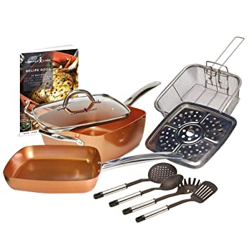 Copper Chef 10-Piece Copper Cookware Set