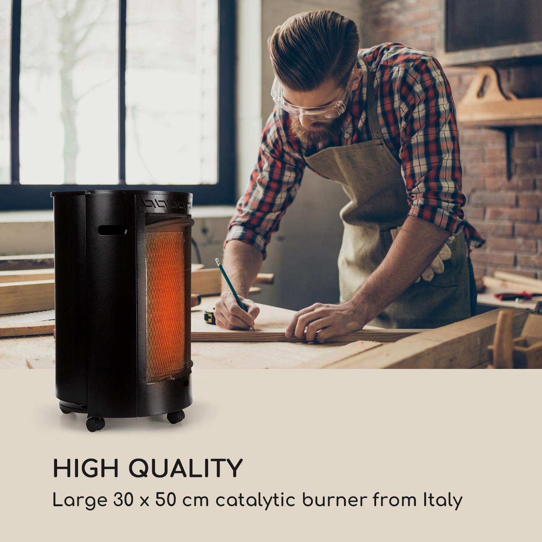 Blumfeldt Bonaparte Catalyt • Estufa de Gas de 2 Niveles • Estufa catalítica • 2500 W • Bombonas de 13 kg • Consumo de 182 o 109 g/h • Ignición eléctrica ...