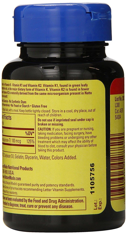 Nature Made Vitamin K2 100 mcg Softgels 30 (3) by Nature Made (Image #2)