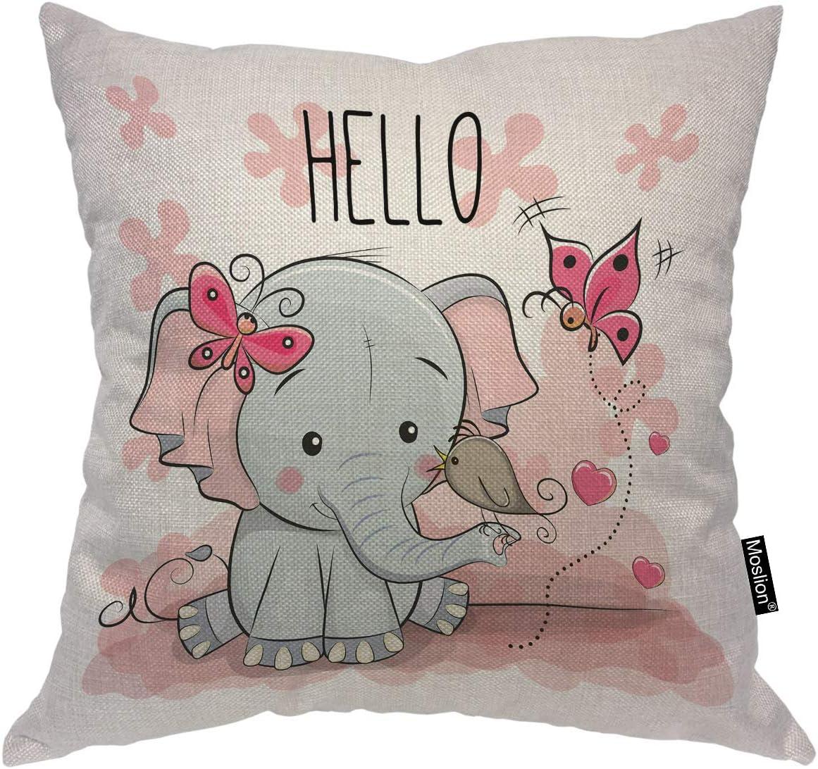 Moslion Elephant Pillow Cartoon