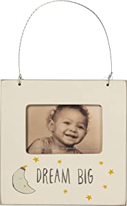 Primitives by Kathy Non-Toxic Painted Wood Mini Photo Frame, 4.5