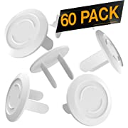 60 Pack Outlet Plugs Covers [Protect Your Child] Child Proof - Best Safety Electrical Power Socket Plug Wall Cover Protector