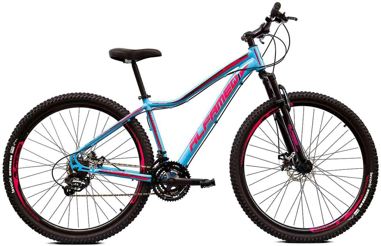 Bicicleta Aro 29 Alfameq Pandora Feminino 24v Hidráulico Azul