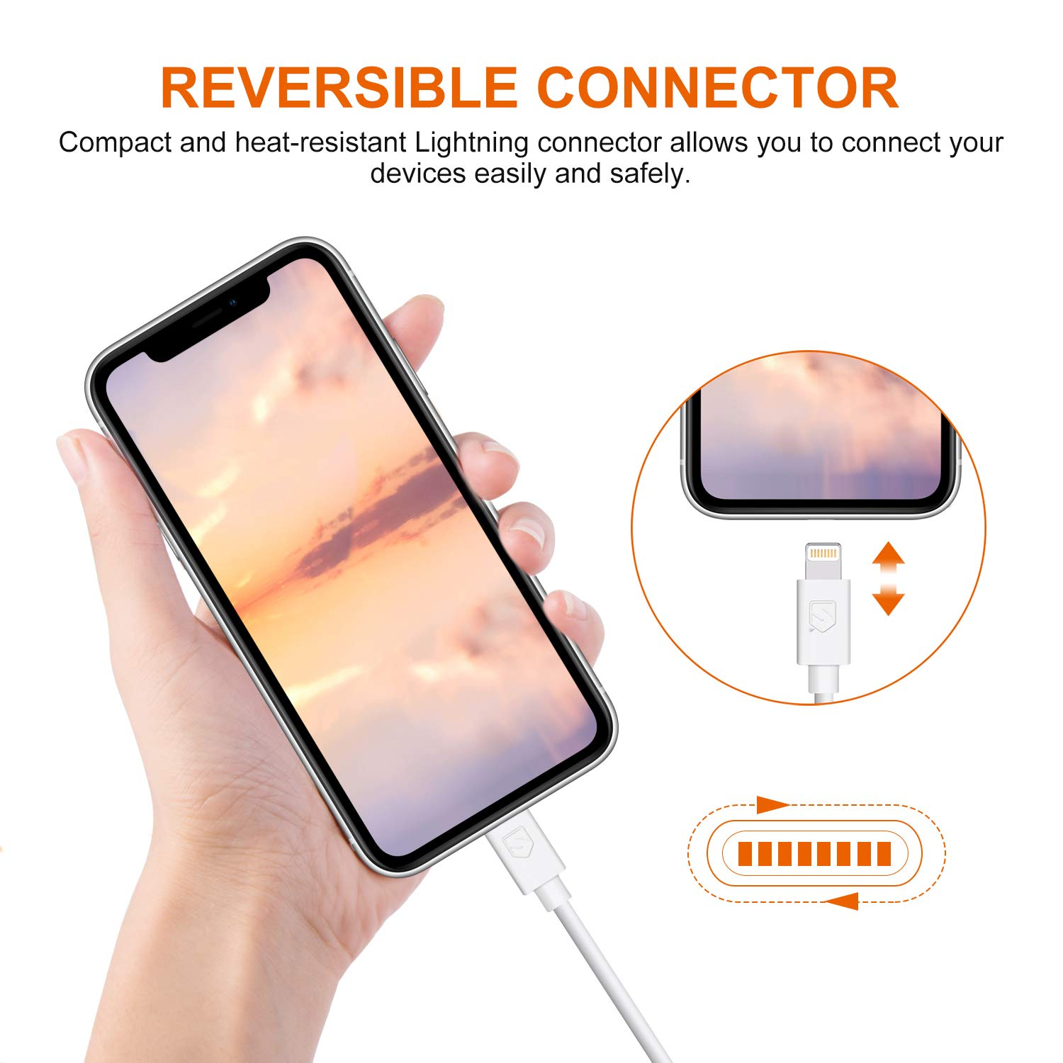 iPhone Charger Cable Sundix 4351486114 White 4Pack 6ft USB Charging /& Syncing Cord Replacement for iPhone X 8 7 6s 6 Plus iPod iPad Mini Air Pro Cables 46white
