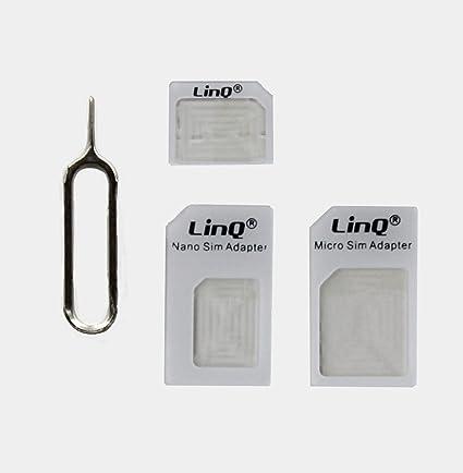 cigalinq Set 4 in 1 adaptador de tarjetas SIM (Nano, Micro ...