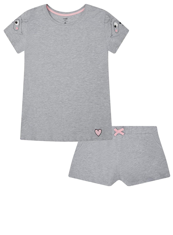 oodji Ultra Damen Baumwoll-Schlafanzug mit Druck