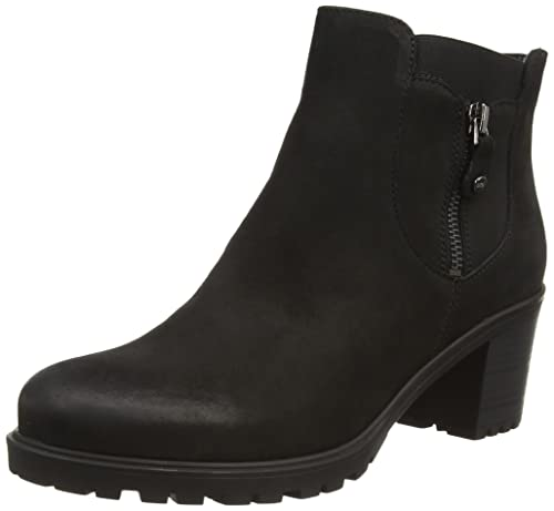 ara Mantova, Women's Cold Lined Biker Boots Half Shaft Boots and Bootees,  Black -