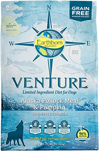 Earthborn Holistic Venture Alaska Pollock Pumpkin Grain Free Dry Dog Food