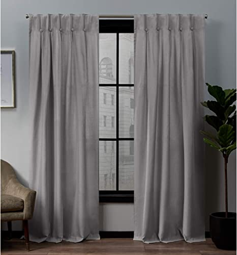 Exclusive Home Curtains Loha Button Panel Pair - a good cheap window curtain panel