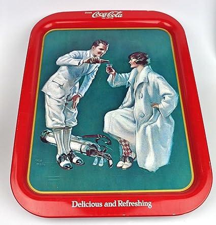Amazon com: 1973 FRENCH BUVEZ Coca-Cola Tray - Golfing Couple -15 X