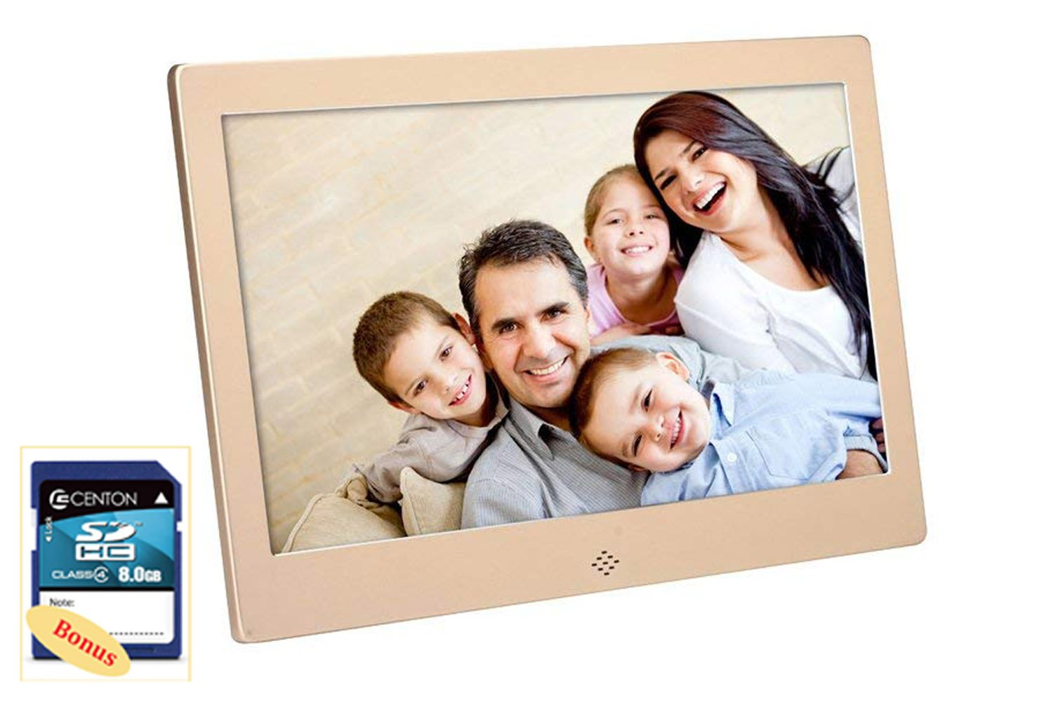 FashionUp 10-Inch DH Digital Photo Frame 1024x600 High Resolution for Wall Mount or Tabletop Use, 8GB Storage Digital Picture Frame with Remote Control Built-in Slideshow SD Card USB Flash Drive ports