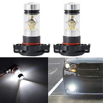 FEZZ 1000 Lúmenes Super Brillante 100W H16 PSX24W 3030 20SMD Bombillas LED Coche para Faros Antiniebla o Luces de Circulación Diurna DRL 9V-30V Xenon ...
