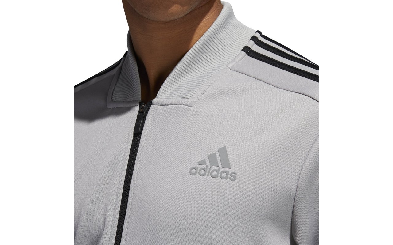adidas Men's Track Tennis Jacket Squad ID Track Grey (Small, Grey) by adidas (Image #2)