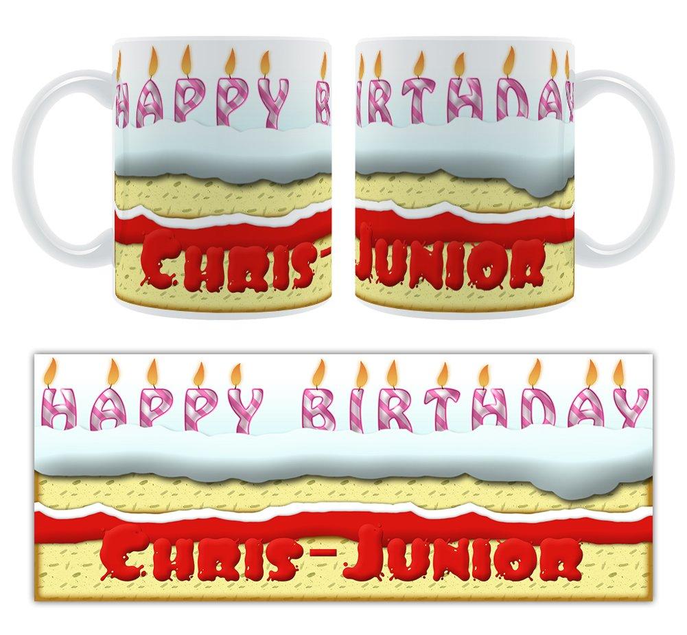Groovy Happy Birthday Chris Junior Birthday Cake Personalised Ceramic Funny Birthday Cards Online Eattedamsfinfo