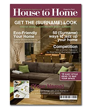 interior design magazine spoof cover amazon co uk office products