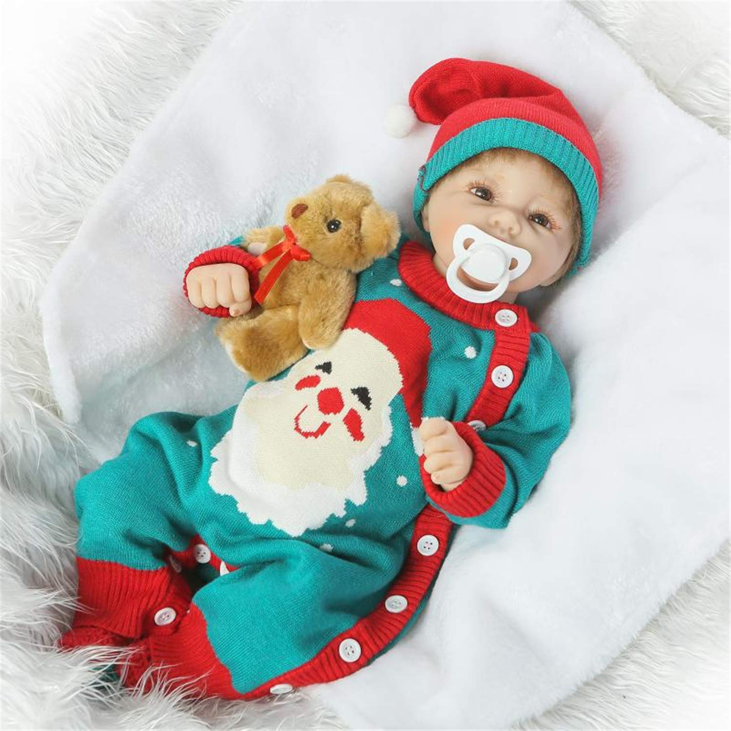 Zero Pam Lifelike Reborn Baby Girl Doll 22 inch 55 cm Realistic Boy Dolls for Kids Real life baby doll with Accessories Christmas Baby