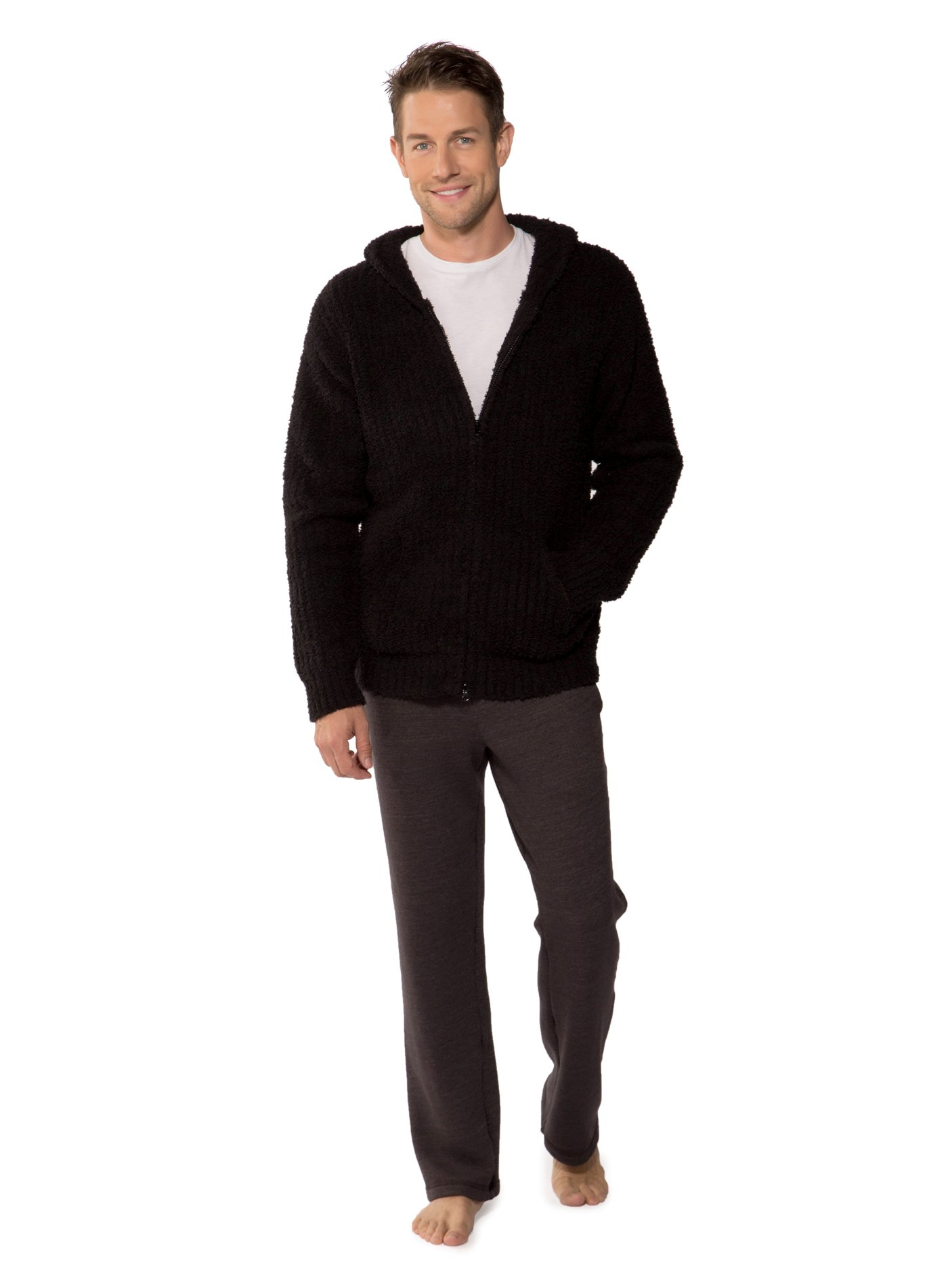 Cozychic Adult Ribbed Hoodie (Midnight, X-Large)