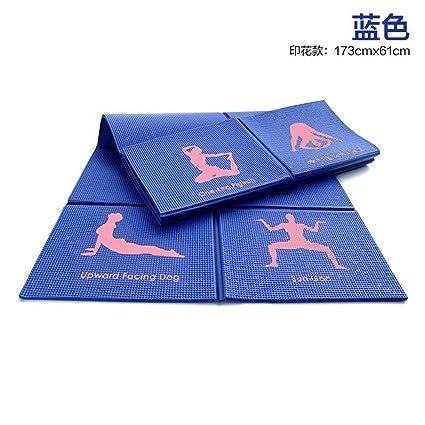 LILUO Estera de Yoga Plegable portátil Yoga Mat Slip Ultra ...