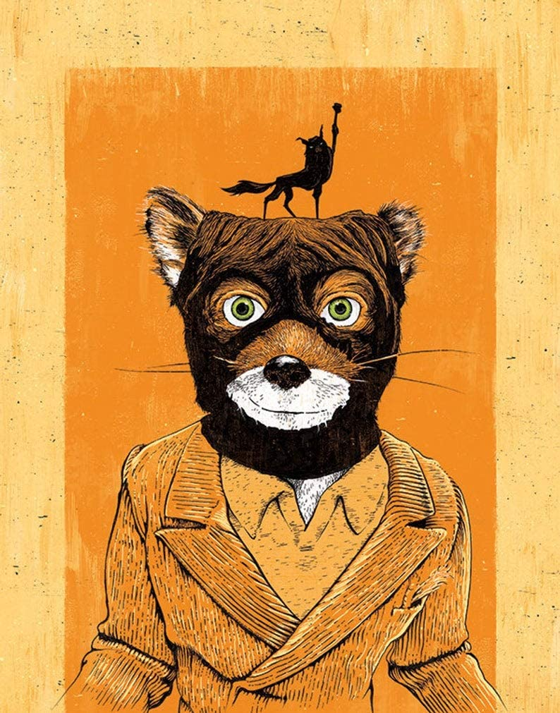 Amazon Com Nhmug Fantastic Mr Fox S Fox Yeah Gift Poster For Fan No Framed Poster Home Art Wall Posters 16x24 Posters Prints