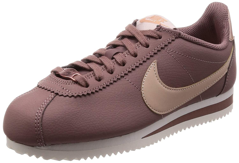 MultiCouleure (Smoked Mauve Particle Beige 200) Nike WMNS Classic Cortez Leather, Chaussures de Running Femme 42 EU