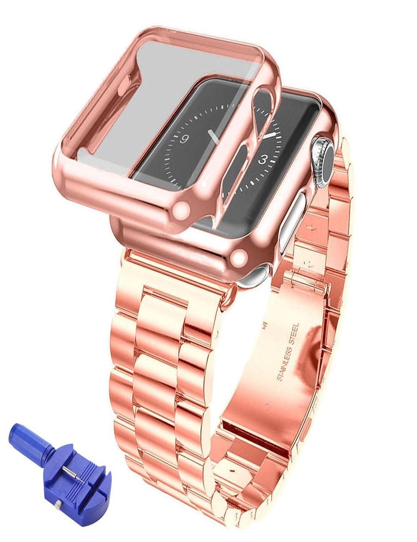 Dreamanステンレススチールブレスレットストラップバンド+ Case for Watchシリーズ2 38 mm  B075GF5RGW
