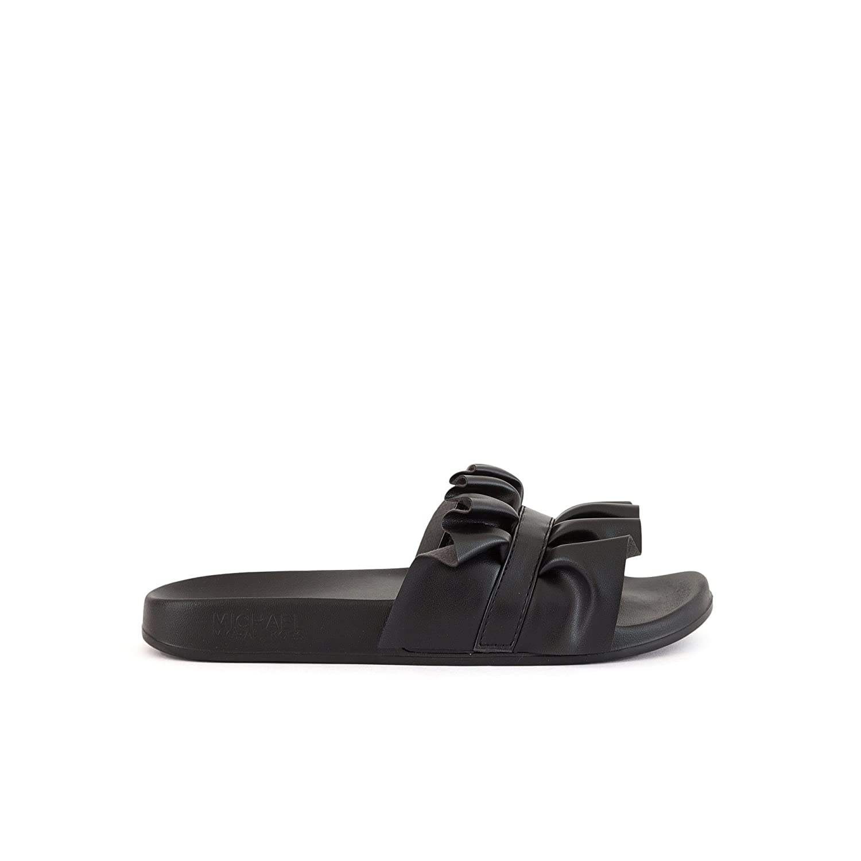 28ea62f8e30 Michael Kors Michael by Bella Black Ruffle Slide 40EU 7UK Black   Amazon.co.uk  Shoes   Bags
